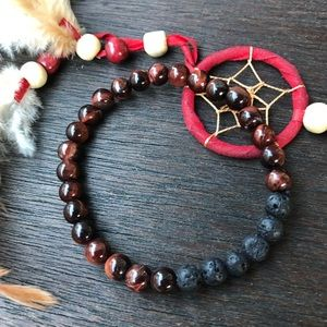 Jewelry - 🆕🆕🆕✨RED TIGER EYE + LAVA DIFFUSER BRACELET 6mm